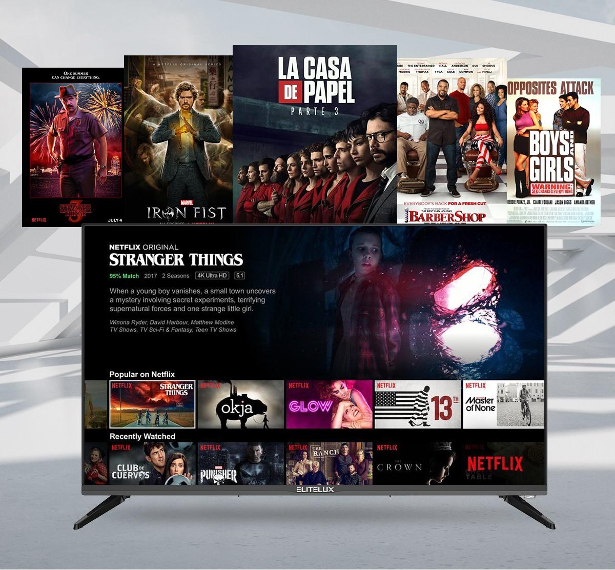 Enjoy Popular Netflix Shows on ELITELUX TV